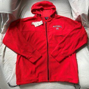 NWT Rutgers Red Fleece Zip Up Jacket (Size M)